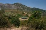 Blick auf Chembe Hut, Mulanje Massiv, Malawi