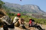 Beim Abstieg, Mulanje Massiv, Malawi